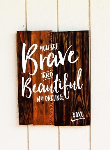Oldwooddesign Brave & Beautiful Tablo Renkli